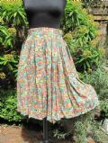 1950's Viscose box pleated fruit print skirt **SOLD** ebay